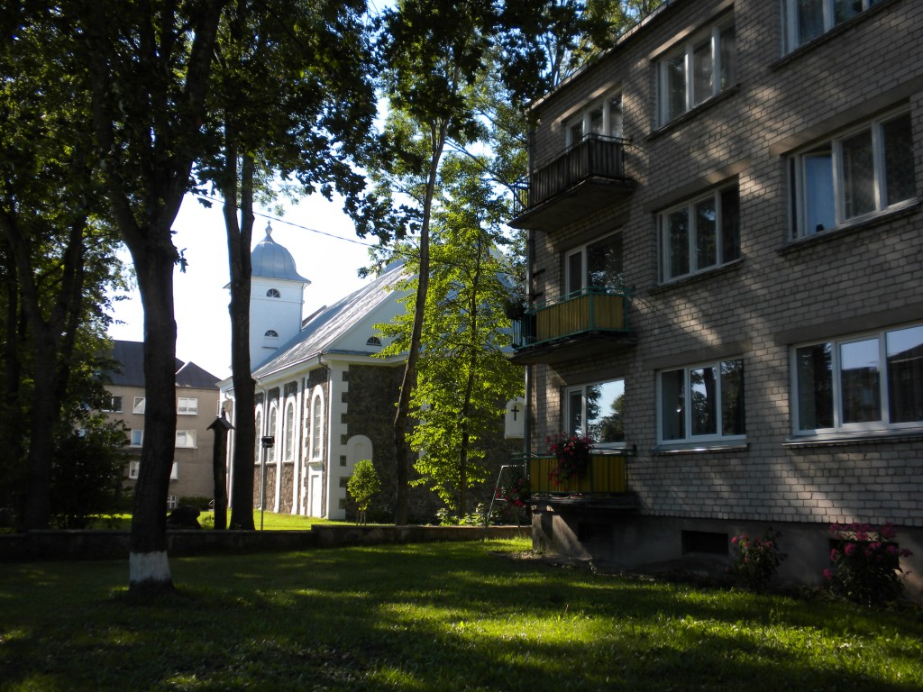 Catholic Church and Apartment - site of M Mines home and factory